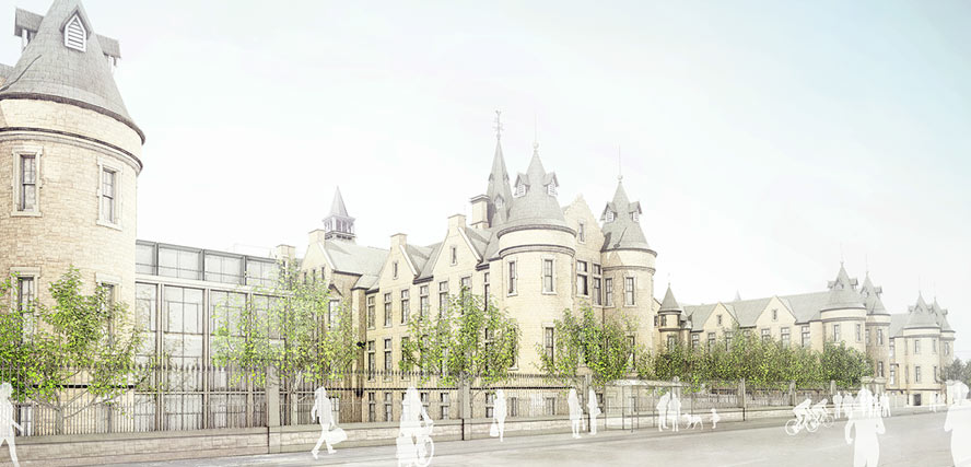 Artist's impression of the Edinburgh Futures Institute.