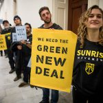 youth rally in support of a Green New Deal